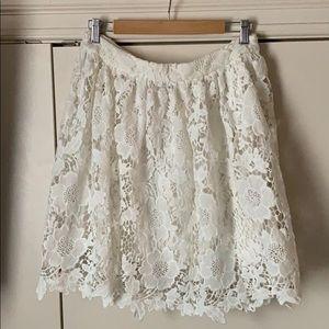 Dresses & Skirts - White lace full skirt